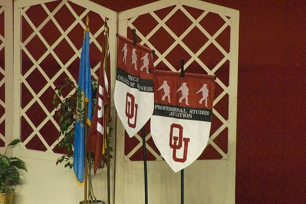 "<br><br><font size=""3"">OU Graduation - The Business and Avaiation Colleges shared the stage.</font>"