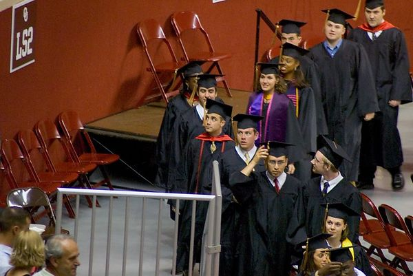 "<br><br><font size=""3"">...then the graduates march in.</font>"
