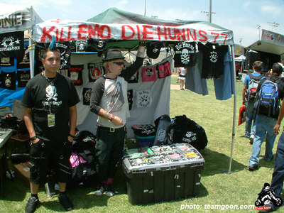 Hunns booth - VANS Warped Tour - Fullerton, CA - July 1, 2004