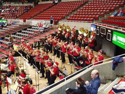 ISU Alumni Pep band  (http://www.isualumniband.org) plays at the game