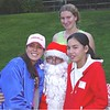 Gabriella Fonseca, Danielle Bushue, Santa and Marion Cole.  Santa, have they been naughty or nice all year?