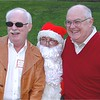 Larry Pelzner, Santa and Shel Brandenburger.