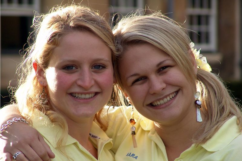 Meet the Freshers' Reps. Ready to great the 2005 entry to Downing College, Cambridge