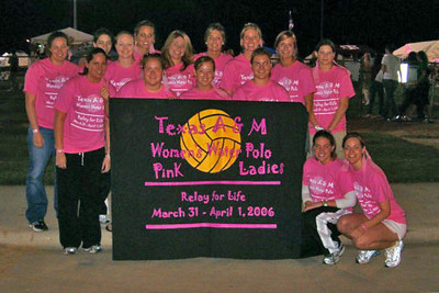 2006 04-01 Relay for Life A&M Womens Water Polo Team