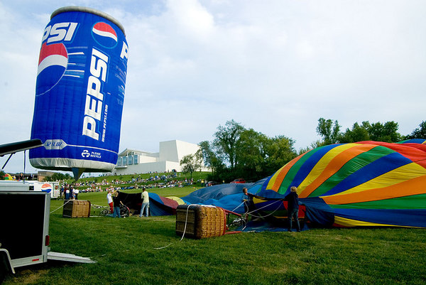 """<font size=""""3"""">Once the soda can was aloft, there was room for a couple of other teams get started.</font>"""