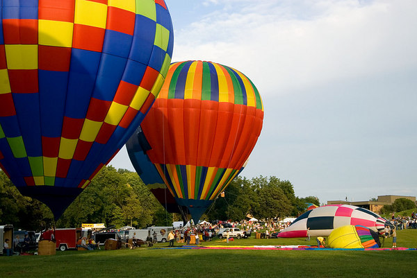 """<font size=""""3"""">Launching the balloons made room for more teams to begin the inflation process.</font>"""