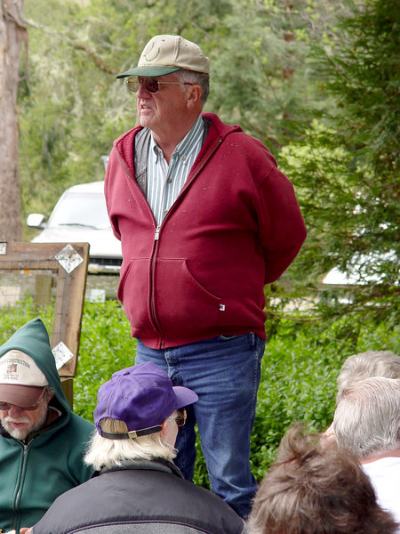 Dick Sanders takes a moment to thank everyone for coming and to take a moment to remember Doug Moody (Doug passed away in Dec/05 and was very active in the Jack Brook Horse Camp).