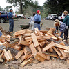 This wood will be used by many campers during their stay at the horse camp.