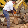 Rick DeBenedetti gets busy with the chain saw!