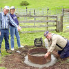 A new fire pit is created for the VHP (Volunteer Horse Patrol) camp-site at the Jack Brook Horse Camp.
