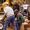 Busy splitting firewood!