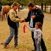 Callie receives a second place ribbon