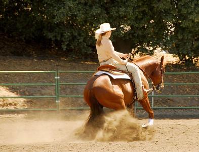 "Alison Andrus riding ""Boomersix"" #212"