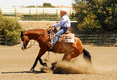 """Butch Coggins with an awesome sliding stop on """"Doc Squaw Chex""""."""