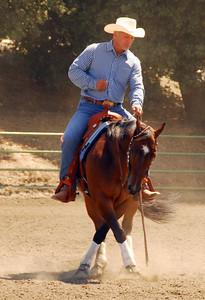 """Craig Randall riding """"Hobbys Gun Theif"""" #151"""