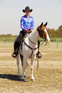 "Danielle Bushue #215 riding ""Sonny's Delight"""