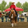 "Joan McLaren riding ""Smart & Shiny"" #155"