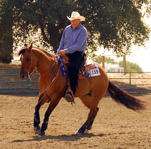 "Bruce Schlegel riding ""Leanin Star"" #159"