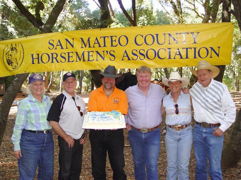 Past Presidents (left to right) -- Noel Moody (1981 & 1987), Ron Harris (1988), Al Filice (2005 & 2006), Bill Ashton (2004), Kathie Goddard (2001 & 2002), and Harold Zwierlein (1970 & 1973)