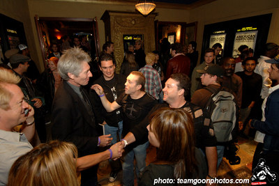 Photographer Edward Colver reuniting with Lucky Leher - American Hardcore Movie Premier - September 20, 2006 - Los Angeles, CA