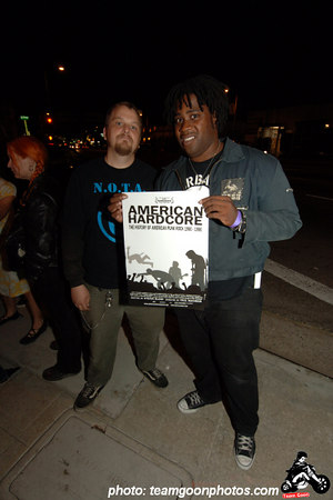 Bad Reaction guys - American Hardcore Movie Premier - September 20, 2006 - Los Angeles, CA