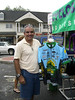 One rider showing off this years ride shirt - 3 Gap/6 Gap Ride - Registration day, September 23, 2006 Vendors on the square.