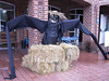 One of the scarecrows that were on the square - 3 Gap/6 Gap Ride - Registration day, September 23, 2006