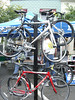 Some of the bicycles that were for sale - 3 Gap/6 Gap Ride - Registration day, September 23, 2006 Vendors on the square.