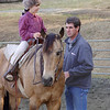 Graham Grisedale gets some instruction from Dad before he begins Noel Moody's Class