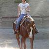 Maggie riding in Jason Attard's Class