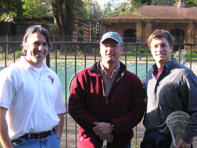 Will Harris, Jim Spencer '85, and Alex Brown '99.