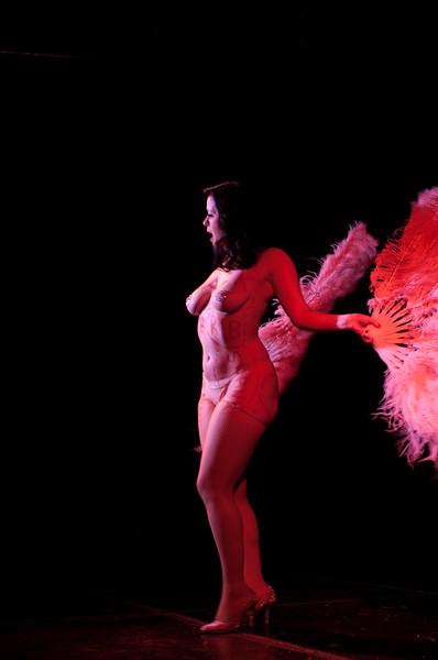 Becky Lou performing at Gorelesque 3