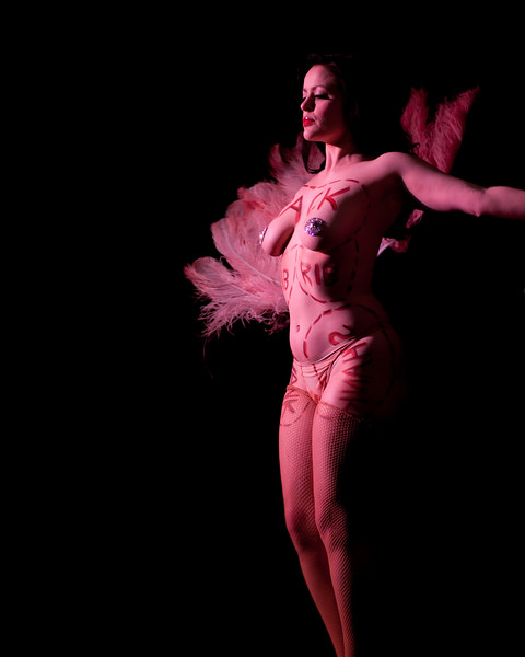 Becky Lou performing at Gorelesque 3