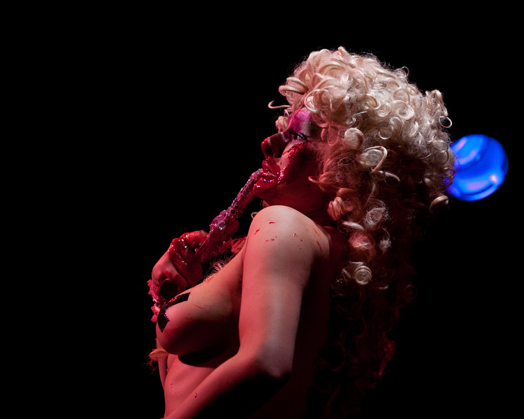 Betty Grumble performing at Gorelesque 3