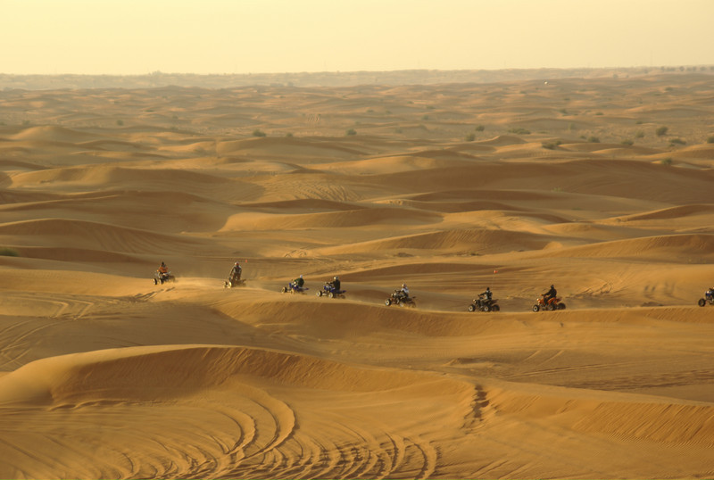 Quad convoy heading out futher into the desert.