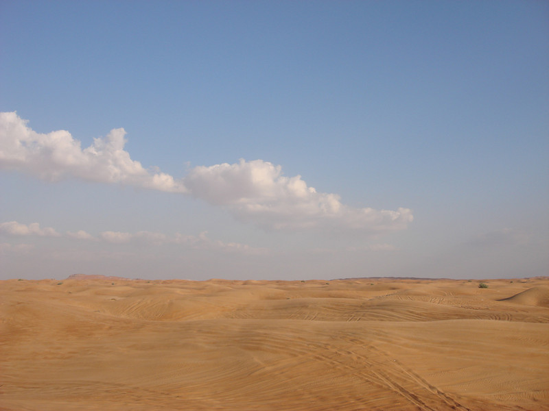 The popular, and well frequented, desert of Sharjah, UAE.