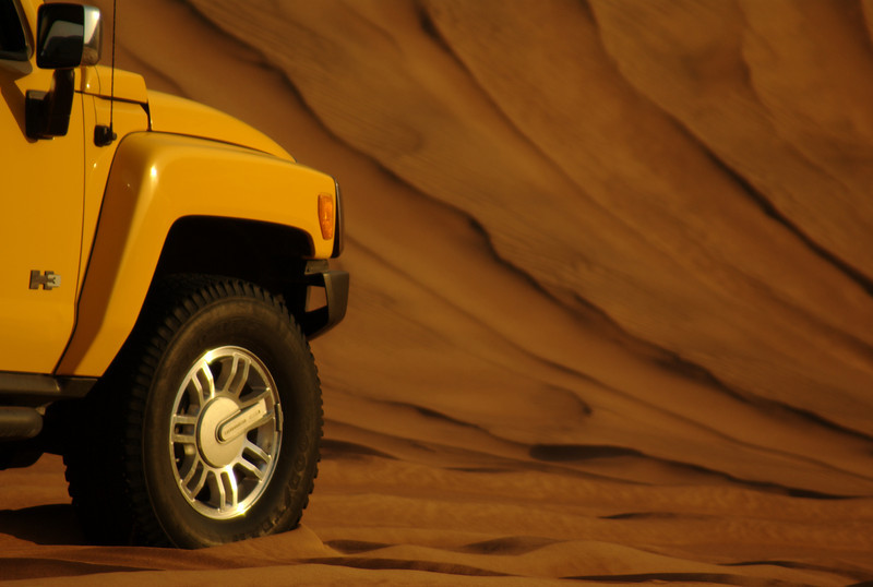 Another H3 Hummer shot, this one parked on the middle of a slow sloping dune. This one stood out in the series of photos I took on the day, and I hope you like it.