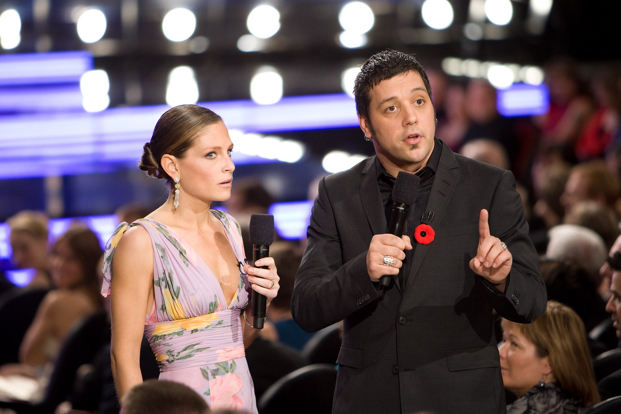 Tara Spencer-Nairn and George Stroumboulopoulos