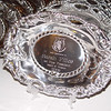Close up of the gifts -- an engraved pewter horse platter