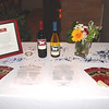Wild Horse Winery and Vineyards graciously donated the table wine for the event -- here is the display table created in their honor.