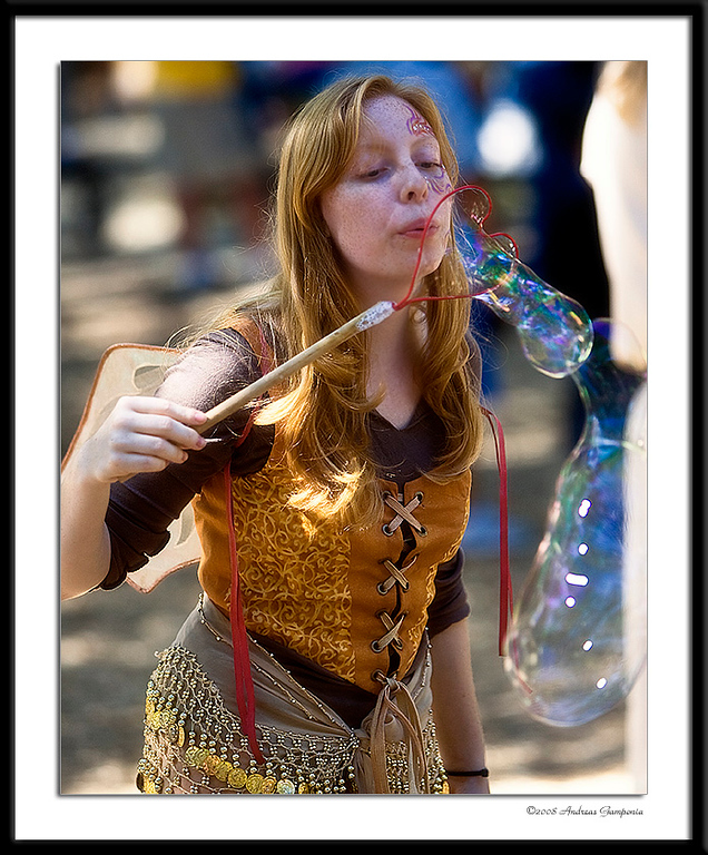 Bubble magic performed by one of the captivating faries known to inhabit these woods...