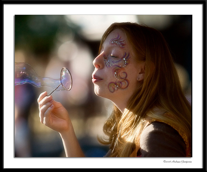 One of the captivating bubble fairies who constantly frolic about and entertain all who witness their magic.