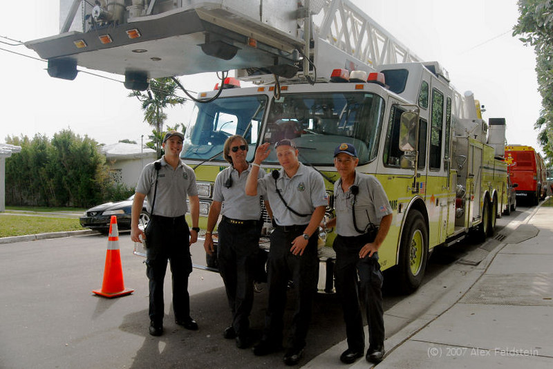 Our friendly County Fire Department crew