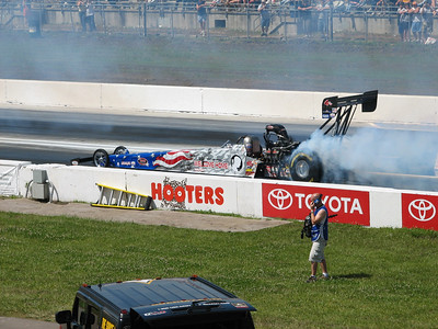 Melanie Troxel top fuel burnout