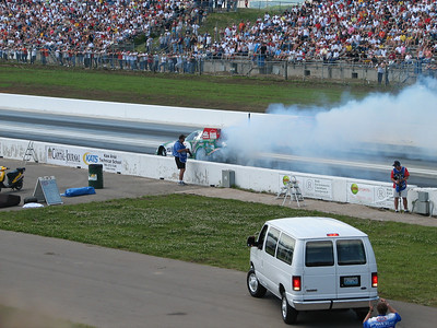 John Force funny car burnout