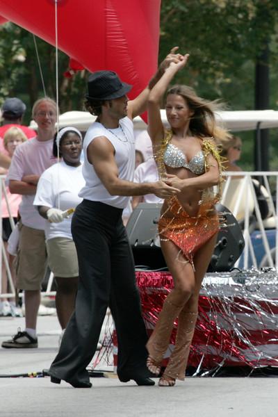 """Dancing with the Stars"" dancers Edyta Sliwinska and Alec Mazo"
