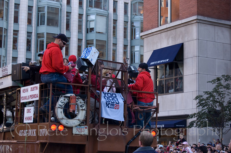 2007 World Series Champion, Boston Red Sox victory parade in Boston, MA on October 30, 2007