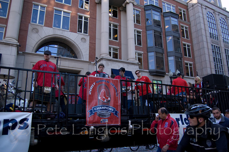 2007 World Series Champion, Boston Red Sox victory parade in Boston, MA on October 30, 2007 - The Dropkick Murphy's and Jonathan Papelbon