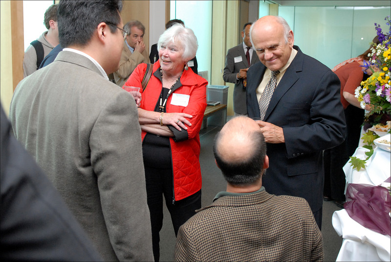 Judge & Mrs. Coughenour greet Professors Kang and Miller at the reception.