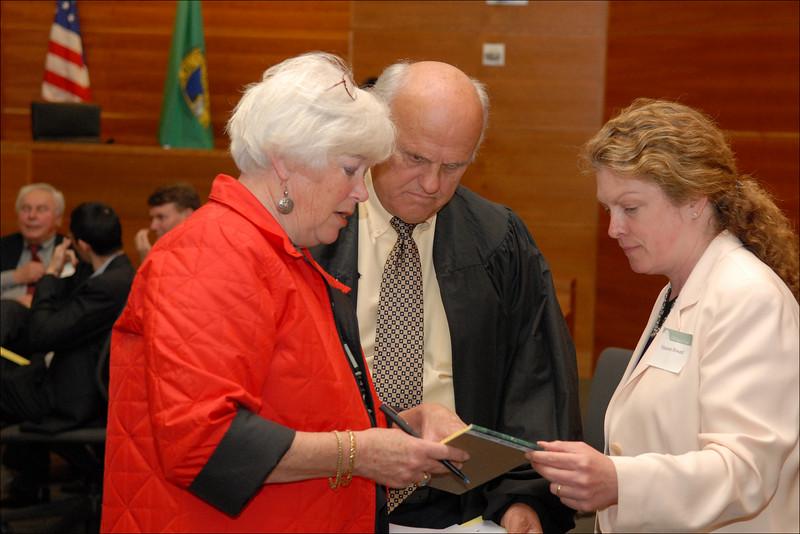 Judge & Mrs. Coughenour with Professor Maureen Howard.